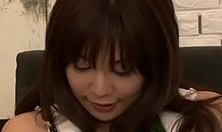 Frisky eastern diva Karen Natsuhara with impressive tits desires deep penetration