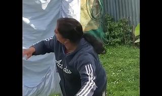 Desi doing Washing