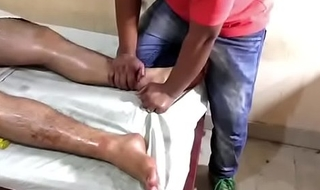 queasy indian getting massage