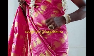 Indian crossdresser model Lara D'Souza saree video3