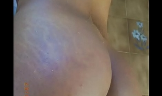 Shower fun with my big booty