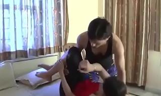Desi girls sex with yoga and handjob