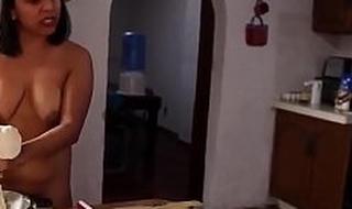 Indian origin woman cooking nude