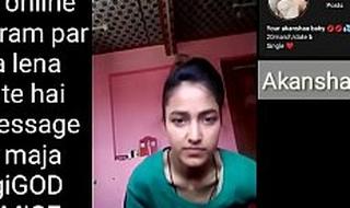 Indian school catholic making Selfie pellicle for her boyfriend