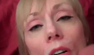 Cum On Say no to Face Makes Grandma Smile