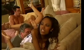 Alter kocker has to tie up loose ends after his overweening nephew who invited couple of interracial wanton chicks Lacey Duvalle and Olivia Saint and pulled a Monica