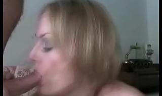 Sexy Blonde GILF Sucking Her Lover