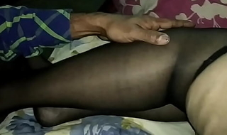 Indian Wife Moja Bhabhi in lingerie stockings plus stiletto heels gets stroked plus groped wide of a stranger - nylons blue high heels threesome mfm mmf Bengali cwmjbst