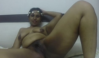 Horny South Indian naked together with masturbating
