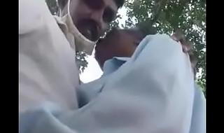 Indian Grandpa n Uncle having fun outdoor