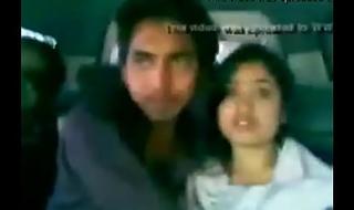 Indian Pal Kissing Make obsolete In Car