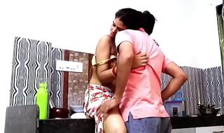 Indian couple romance involving kitchen