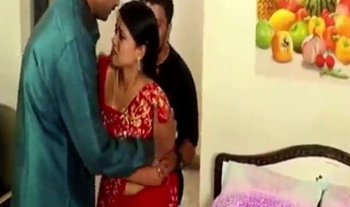 Indian mama enjoys sex with two office colleagues