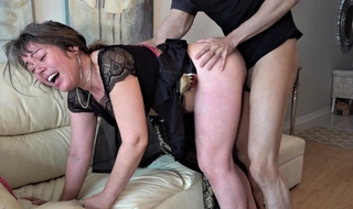 60 domain old mature granny enjoyed dirty sex with juvenile dude