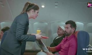 New Indian Flight Attendant Riding Passenger's Locate