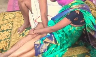 Sex with Telugu wife in green saree