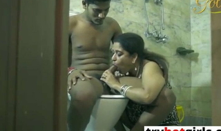 Indian Bhabhi Caught Dever and Fucked in the Bathroom