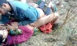 Kashmeri girl screwed by boyfriend in rub-down the forest.