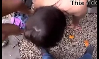 oral-service 2 girls about outdoor