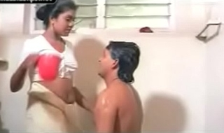 Mallu fastener sexual intercourse result in hammer away powder-room