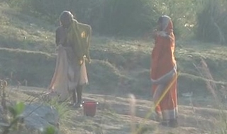 Desi granny changing sign yon launder yon excess of tributary