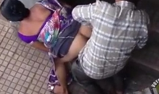 Comely indian explicit has doggy style sex close by pu...