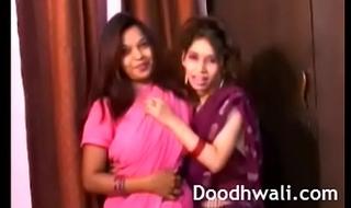 Indian Code of practice Girls In Sari Lesbian Mind Blowing XXX Porn