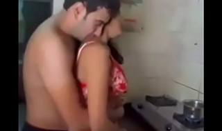 Indian couple sex in transmitted to kitchen
