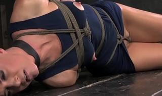 Overarm tied breast bondage India Summer