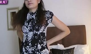 Indian hottie jasmine strippin show from her bedroom