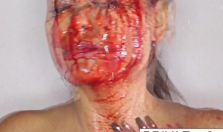 Halloween bloody joshing with Priya Rai