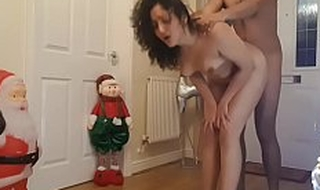 Young sister fucked at Christmas by brother while parents are away - santa dogging  facial cumshot hardcore rough sex POV Indian