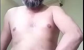 Desi muslim daddy on cam