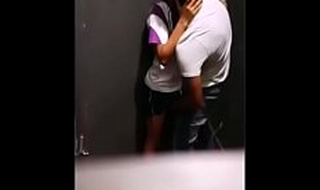indian couples affronting having sex in a establishing toilet
