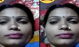 Indian Desi Village Bhabhi showing Her Boobs on Video Call Part 1